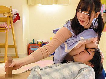 ストレス溜まりまくりの巨乳保育士が性欲発散変態プレイ!授乳手コキに尻穴弄り何でもありの卑猥映像!
