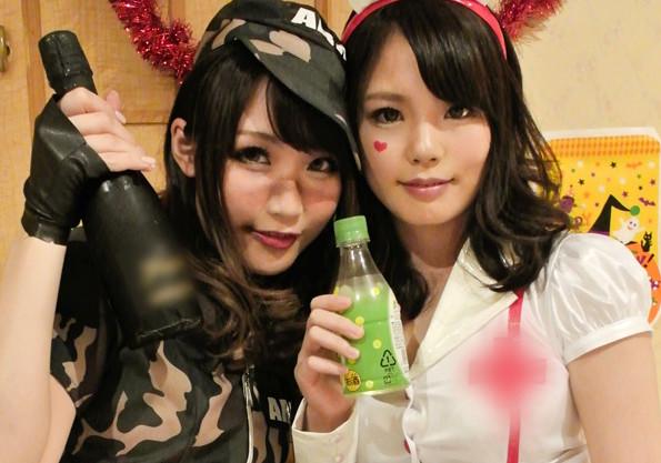 【ハロウィンナンパ】『いえ〜い!イッパイ飲もぉ!!』コスプレお姉さんを即ハメw