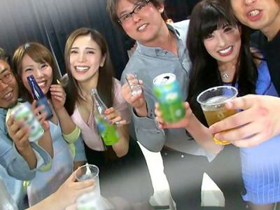 【中出し企画】『パーティー飲み!!』素人ナース達とハーレム飲酒w盗撮セックスでハメまくりな痙攣アクメw