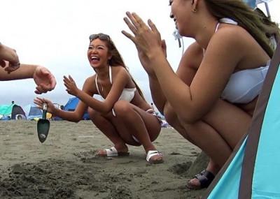 【ギャルナンパ】『ナンパうけぽよ〜〜!』水着お姉さんハメ撮り!乱交で痴女ギャルと3P撮影で痙攣アクメw