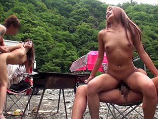 巨乳おっぱいギャルお姉さんをナンパして即ハメ野外セックス