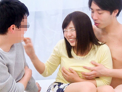 【素人企画】『男優さんと彼氏と3Pするのぉお?!』禁欲した素人JDがデカチン巨根やハードピストンで痙攣アクメしまくりw